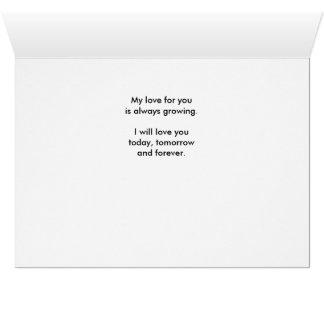 Heute morgen u. für immer - Liebe des Immergrün-I Karte