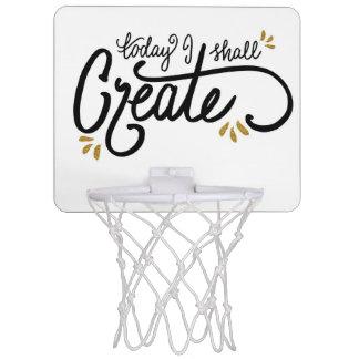"""Heute stelle ich"" MiniBasketballkorb her Mini Basketball Ring"