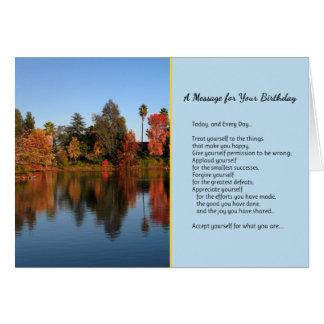 Heute und jeden Tages… Geburtstag Karte