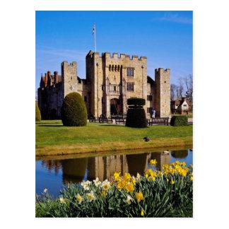 Hever Schloss, Kent-Blumen Postkarte