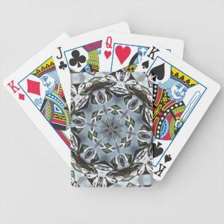 Hexagon des Dschungel-Blätter und der tropischen Bicycle Spielkarten