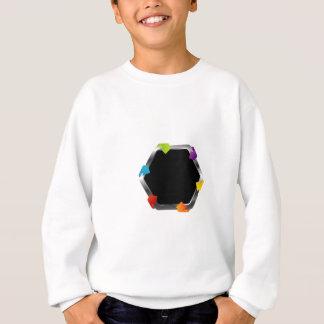Hexagon mit bunten Pfeilen Sweatshirt