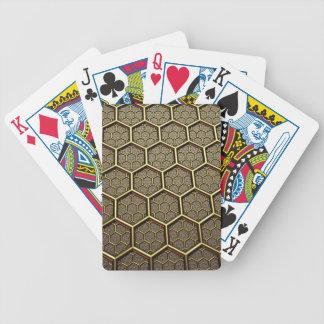 Hexagon-Muster Bicycle Spielkarten