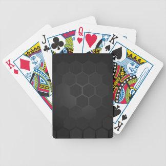 Hexagon-Schablone Poker Karten