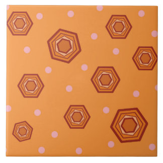 Hexagon-Sorbett-orange Keramik-Fliese Große Quadratische Fliese