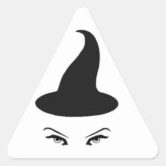 Hexe-Aufkleber Dreieckiger Aufkleber