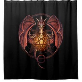 Hexe-Drache Duschvorhang