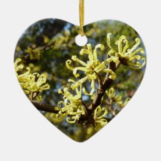 Hexe-Haselnuss-Blumen Keramik Ornament