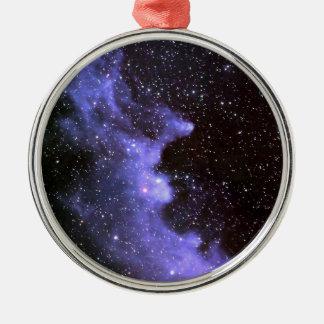 Hexe-Hauptnebelfleck IC 2118 Silbernes Ornament