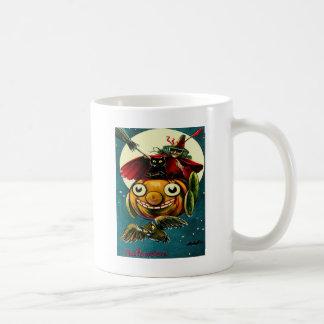 Hexe u. schwarze Katze Kaffeetasse