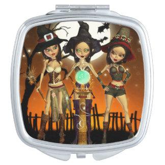 Hexe-Vertrags-Spiegel der Schwester-drei Taschenspiegel