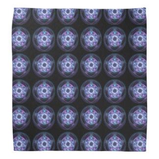 Hexerei-blaues Feuerpentagram-Muster Kopftuch
