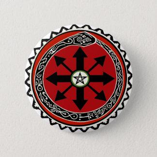 Hexerei-Symbol für Chaos Runder Button 5,7 Cm