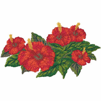 Hibicus Blumenstrauß Bestickte Sportjacke