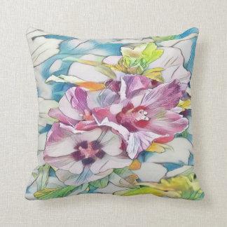 Hibiskus-Blume Throwkissen Kissen