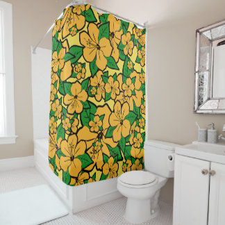 Hibiskus-Blumen #3 Duschvorhang
