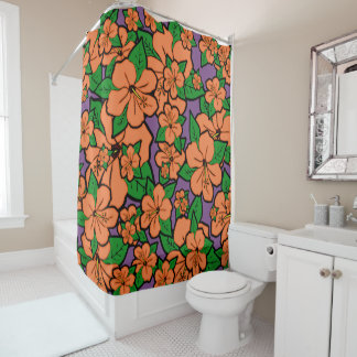 Hibiskus-Blumen #5 Duschvorhang