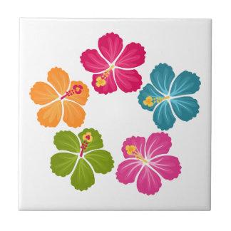 Hibiskus-Blumen Kleine Quadratische Fliese