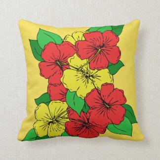 Hibiskus-Blumen Relais Kissen