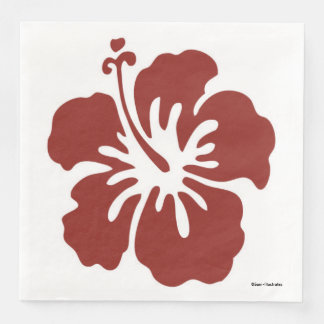 Hibiskus-Blumen-tropische Themed Servietten