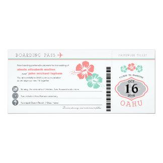 Hibiskus-Boarding-Durchlauf-Hochzeit Oahus Hawaii Karte