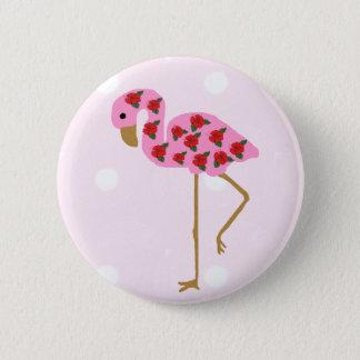 Hibiskus-Flamingoknopf Runder Button 5,1 Cm