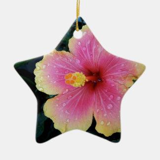 Hibiskus-Hawaiianer-Blume Keramik Ornament