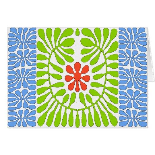 Hibiskus, Matisse Ehrerbietungs-Blatt Karte