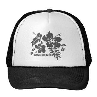 Hibiskus Pareau hawaiisches Blumen im Grau für Hüt Truckerkappe