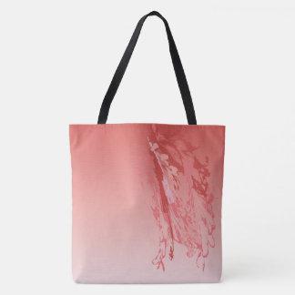 Hibiskusflamingo versieht Taschentasche mit Federn Tasche