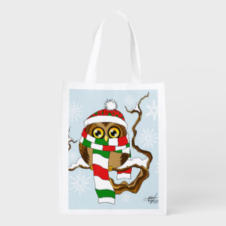 Hibou de flocon de neige de Noël Cabas Épicerie