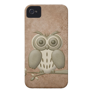 Hibou mignon Blackberry audacieux Coques Case-Mate iPhone 4