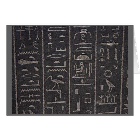 Hieroglyphen danken Ihnen zu kardieren Mitteilungskarte
