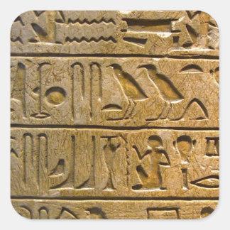 Hieroglyphen Quadratischer Aufkleber