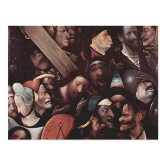 Hieronymus Bosch- das Tragen des Kreuzes Postkarte