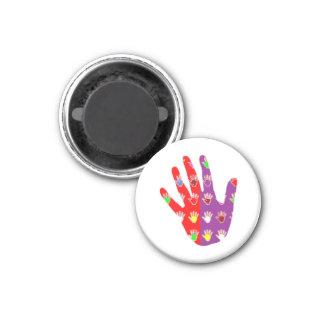 Hifi High5 HighFIVE HANDdes cadeaux gießen tous Runder Magnet 3,2 Cm