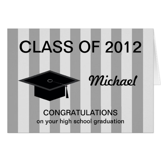 Highschool Abschluss-Karte -- Glückwünsche Karte