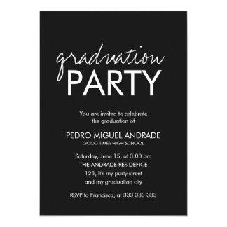 Highschool Abschluss-Party-Foto Schwarzweiss 11,4 X 15,9 Cm Einladungskarte