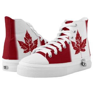 Hightop Läufer Kanada-Flaggen-Turnschuh-Kanadas Hoch-geschnittene Sneaker