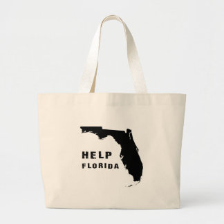 Hilfe Florida nach Hurrikan Irma Jumbo Stoffbeutel