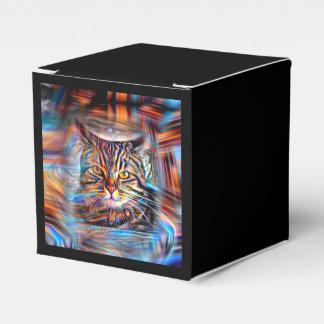Hilflos Farbin der abstrakten Revolutions-Katze Geschenkschachtel