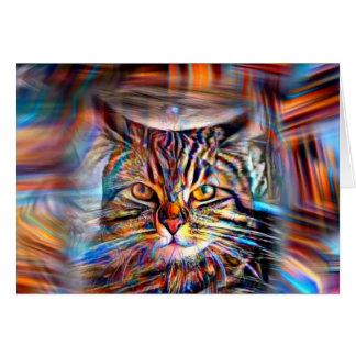 Hilflos Farbin der abstrakten Revolutions-Katze Karte