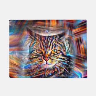 Hilflos Farbin der abstrakten Revolutions-Katze Türmatte