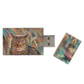 Hilflos Farbin der tropischen Holz USB Stick