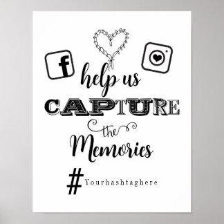 Hilfsgefangennahme das Erinnerungen Hashtag Poster