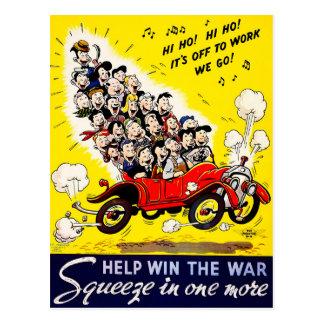 Hilfsgewinn der Krieg - Carpool Postkarte