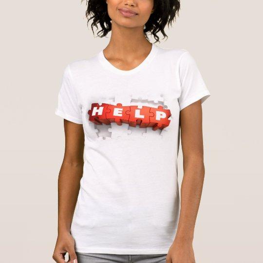 Hilfspuzzlespiel bessert den T - Shirt der Frauen