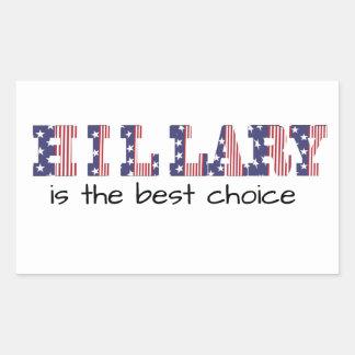 Hillary 16 ist die beste Wahl Rechteckiger Aufkleber