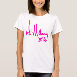 """HILLARY 2016"" (doppelseitig) T-Shirt"