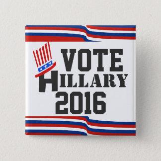 Hillary 2016 Wahlen Demokrat Quadratischer Button 5,1 Cm